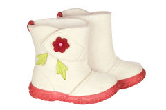Children's felt boots Royalty Free Stock Photos