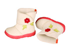 Children's felt boots Stock Images