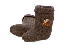 Children's felt shoes (Valenki) Stock Photo