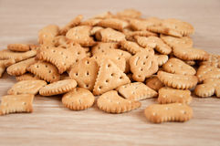 Children's figured  crackers Royalty Free Stock Photos