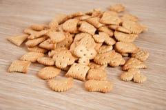 Children's figured  crackers Stock Image