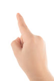 Children's finger pointing Royalty Free Stock Photos