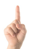 Children's finger pointing Royalty Free Stock Photo