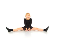 Children's fitness. Active girl doing fitness royalty free stock photos