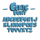 Children`s font in the cartoon style. Set of multicolored letters. Vector illustration. EPS 10. Children`s font in the cartoon style. Set of multicolored letters royalty free illustration