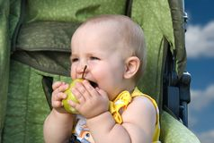 A children's food. Many parents do not know than to feed children (What chest children) eat Stock Image