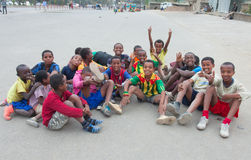 Children's football in Ethiopia Royalty Free Stock Photography