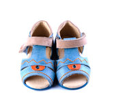 Children's footwear. Baby shoes on a white background isolated Stock Photography