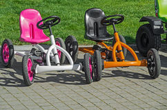 Children`s four-wheeled bicycle Royalty Free Stock Photos
