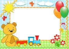 Children's frame. Bear. Handmade. vector illustration