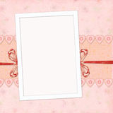 Children's frame for the  girl Royalty Free Stock Image
