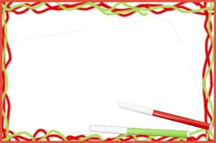 Children`s frame `markers` royalty free stock images