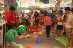 Children's fun competitions in Shenzhen Tai Koo Shing Shopping Center Royalty Free Stock Images
