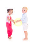 Children's fun game Stock Photos