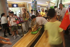 Children's fun games in the mall in SHENZHEN,china,asia Royalty Free Stock Images