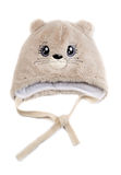 Children's fur cap with a pattern Stock Images
