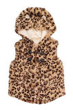 Children's fur vest with leopard print Stock Photography