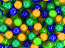 Children's game colorful plastic balls Royalty Free Stock Photography