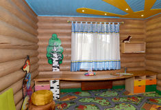 The children's game room in the center of rest, Kaliningrad Royalty Free Stock Photography