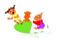 Children`s games. Vector illustration of  children`s games Stock Image