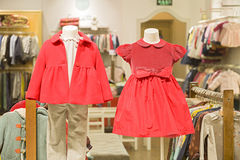 CHILDREN`S GARMENTS IN SALE Royalty Free Stock Photography