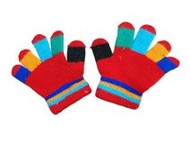 Children`s gloves Stock Images