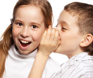 Children's gossip royalty free stock photography
