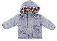 Children's gray jacket Stock Photo