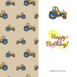 Children's greeting card with the images of children's toys Royalty Free Stock Photos