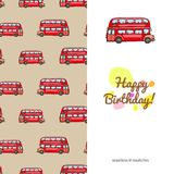 Children's greeting card with the images of children's toys Stock Photo