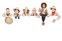Kids ready for adventure royalty free stock photo