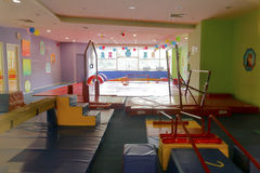 Children's gymnastics exercise hall Stock Photos