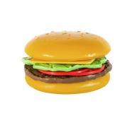 Children`s hamburger, cheeseburger Stock Photo