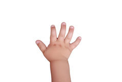 Children's hand. Isolated on a white background Stock Image