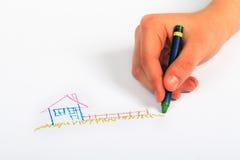 Children's hand painted Stock Photo