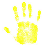 Children's Hand Prints. Child's Isolated Red Hand Prints Royalty Free Stock Images