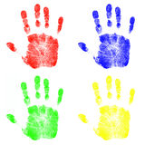 Children's Hand Prints Stock Photos