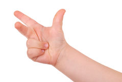 Children's hand on white background Royalty Free Stock Images