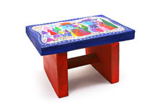 Children's handicraft - stool Royalty Free Stock Images
