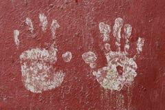 Children's handprint Stock Images