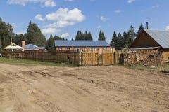 Children`s Health Camp `School of travelers Of Fedor Konyukhov` in Totemsky District, Vologda region. Totemsky District, Vologda Region, Russia - August 10, 2016 stock image
