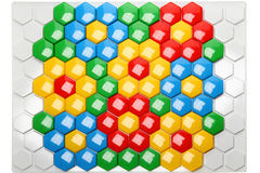 Children's hexagon mosaic Stock Image