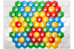 Children's hexagon mosaic Stock Image