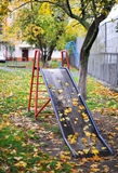 Children's hill. In autumn park Royalty Free Stock Photos