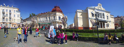 Children's holiday in Chernivtsi Royalty Free Stock Photos