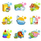 Children's icons Royalty Free Stock Photos