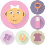 Children's icons on a white background Stock Photo