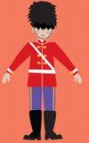 Children's illustarion English Royal Guard Royalty Free Stock Photos