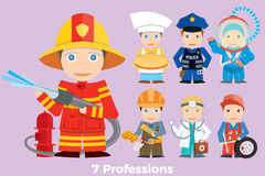 Children`s illustration people profession. Royalty Free Stock Photo