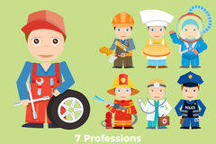 Children`s illustration people profession. Stock Photography